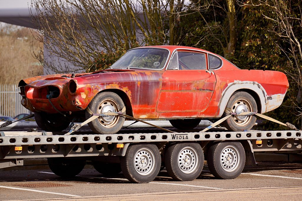 Classic Car on Trailer