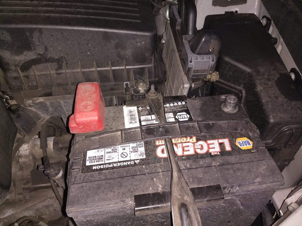 Battery disconnected prior to welding