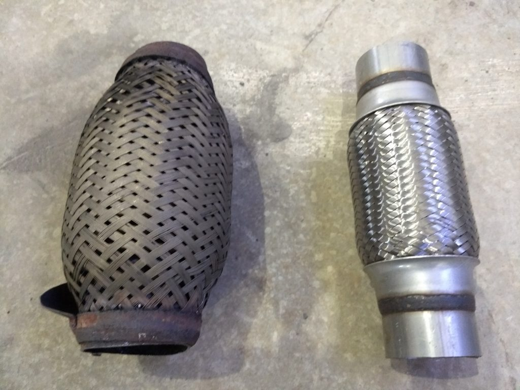 Old and new flex pipe side by side